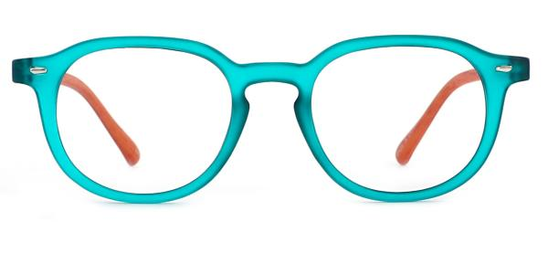 195123 Simran Oval green glasses