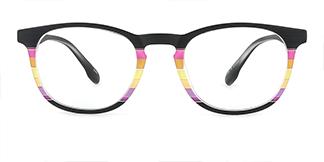 195134 ishara Oval floral glasses