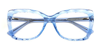 2009 Tacy Rectangle,Oval blue glasses