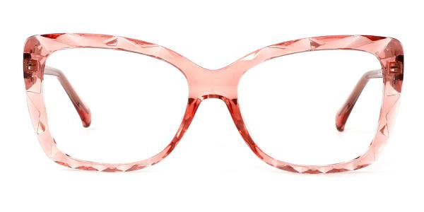 2009 Tacy Rectangle pink glasses