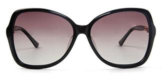 20155 Alberta Rectangle black glasses