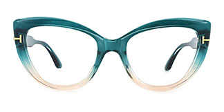 20181 Kay Cateye green glasses