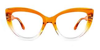 20181 Kay Cateye orange glasses