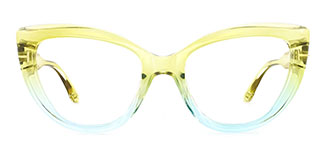 20181 Kay Cateye yellow glasses