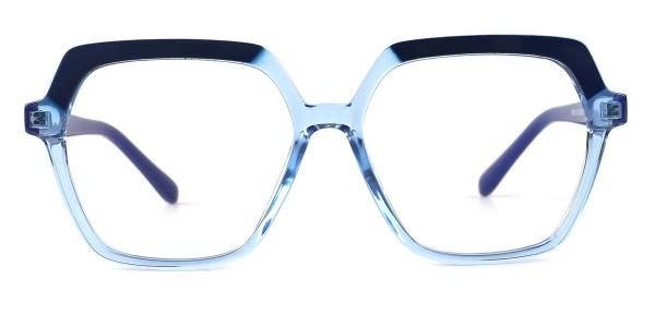 20188 Andrina Geometric blue glasses