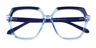 20188 Andrina Geometric blue glasses