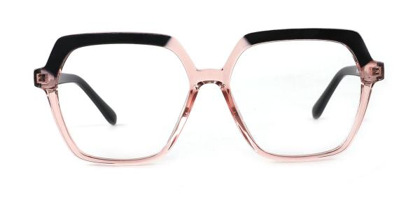20188 Andrina Geometric pink glasses