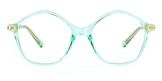 20204 Tess Geometric green glasses