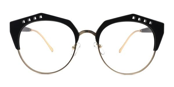 20212 Jeanne Geometric black glasses
