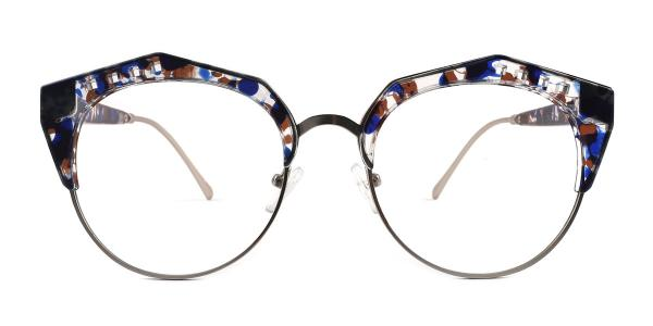 20212 Jeanne Geometric blue glasses