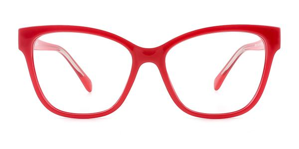 20281 Vitta Rectangle red glasses