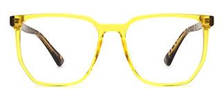 2034 Kalika Cateye yellow glasses