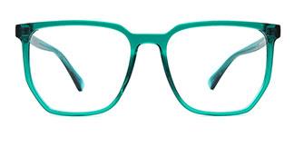 20341 Indiya Rectangle green glasses