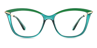 2036 Angelo Cateye green glasses