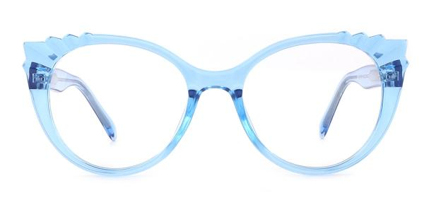 2037 Shana Cateye blue glasses