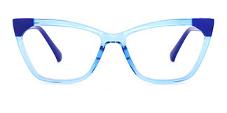 2040 Kaye Cateye blue glasses
