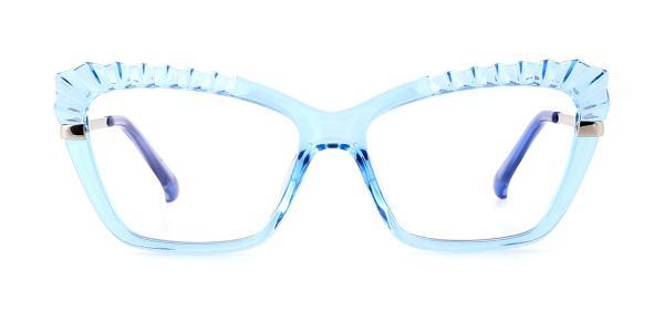 2046 Whalen Cateye blue glasses
