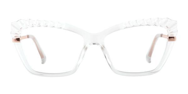 2046 Whalen Cateye clear glasses