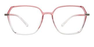 20501 Fionnghuala Geometric pink glasses