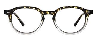 205140 Amina Oval floral glasses