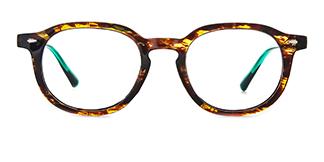 205140 Amina Oval tortoiseshell glasses