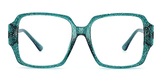 2053 Chelsea Rectangle green glasses