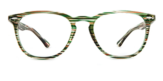20591 An Oval green glasses