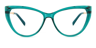 2062 Amarante Cateye green glasses