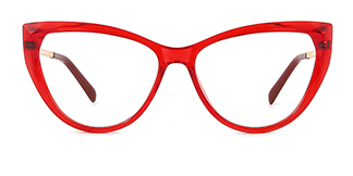 2062 Amarante Cateye red glasses