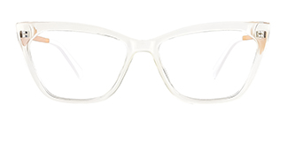 2064 hellen Cateye clear glasses