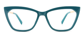 2064 hellen Cateye green glasses