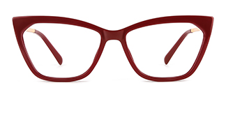 2064 hellen Cateye red glasses
