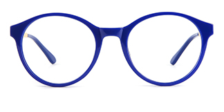 2066 Amir Round blue glasses