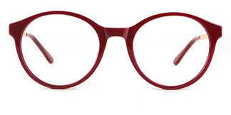 2066 Amir Round red glasses