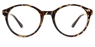 2066 Amir Round tortoiseshell glasses