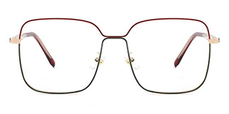 2068 Abu Rectangle red glasses