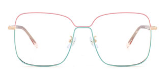 2068 Abu Rectangle pink glasses