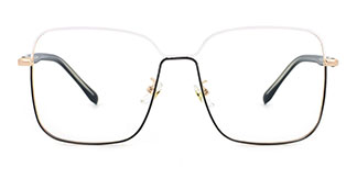 2068 Abu Rectangle white glasses