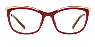 2071 Amaya Cateye red glasses