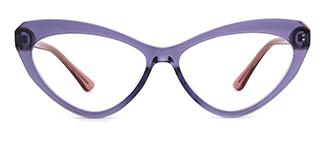 20751 Antoine Cateye purple glasses