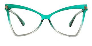 2077 Arleen Butterfly green glasses