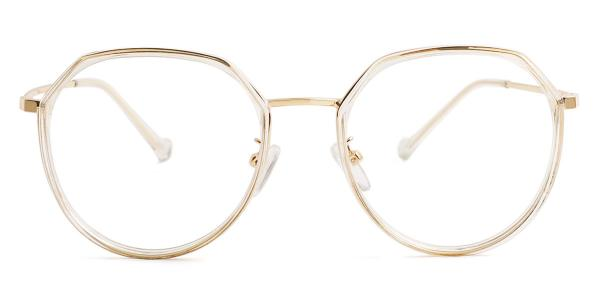 21010 Lauren Geometric clear glasses