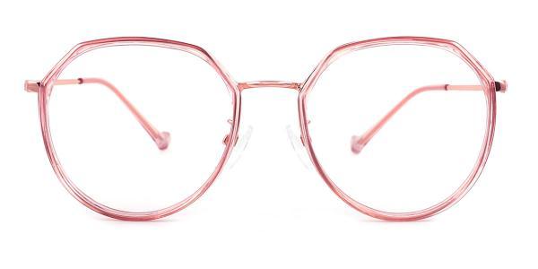 21010 Lauren Geometric pink glasses