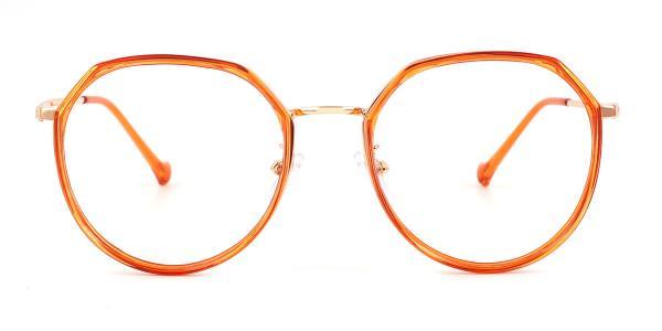 21010 Lauren Geometric orange glasses