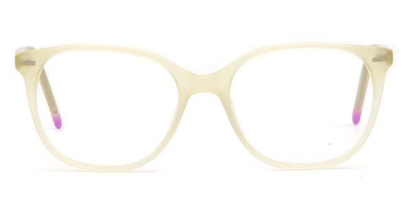 2118 Astrid Oval white glasses