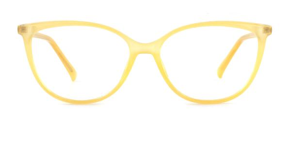 214212 Brielle Oval yellow glasses