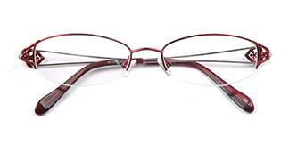 215 Maude Oval silver glasses
