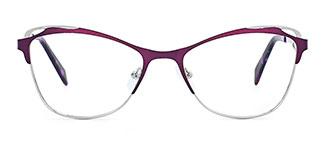2167 Aderes Cateye purple glasses