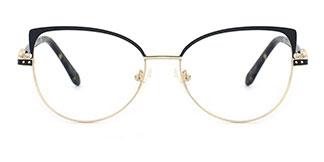 2171 Adey Cateye black glasses