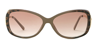 2195 Hanoi Oval brown glasses